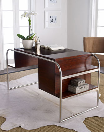 Pin laurent office desks by global contemporary on pinterest for Ralph lauren office furniture