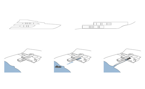 yacht house design plan - Yacht House: your own private marina